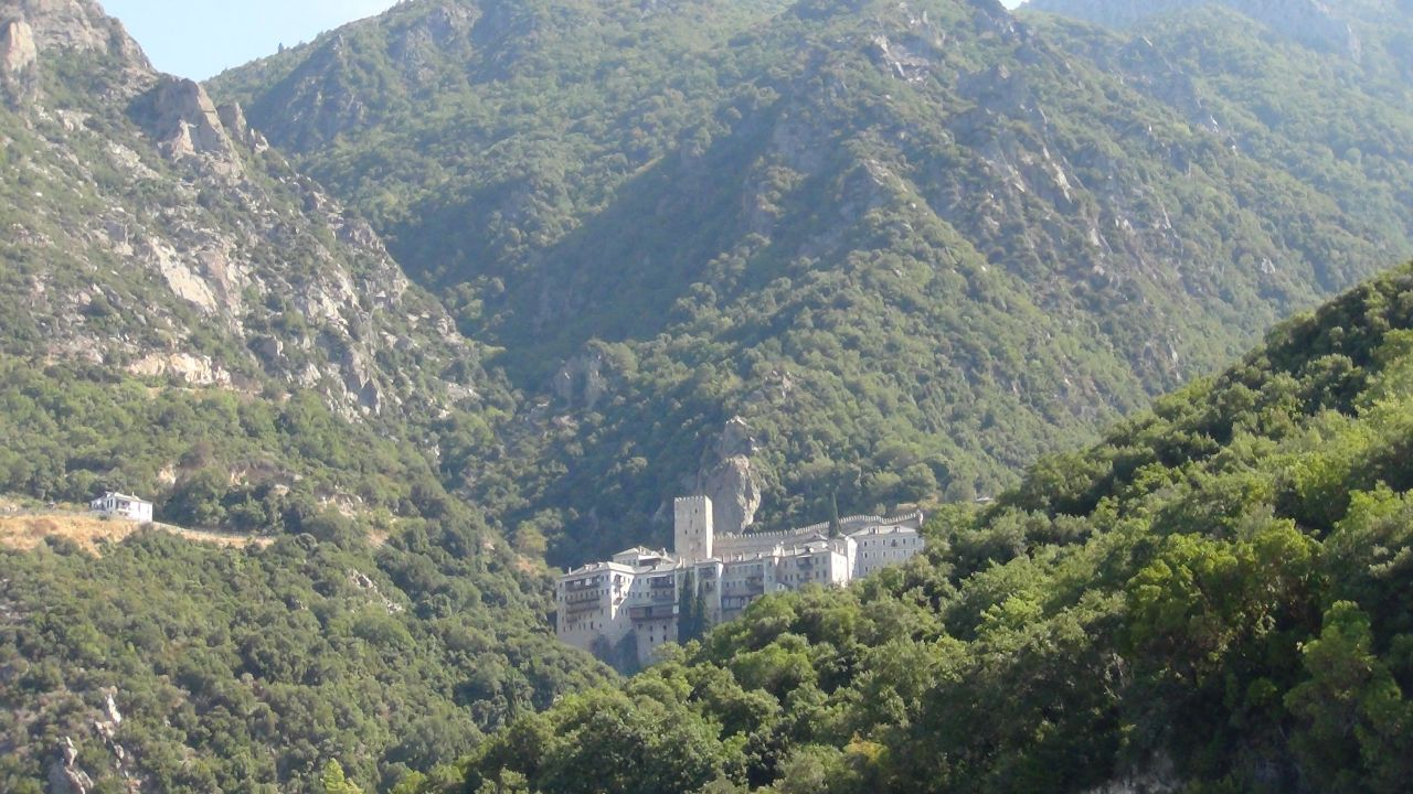 Монастырь Агиу Павлу. Святая гора Афон